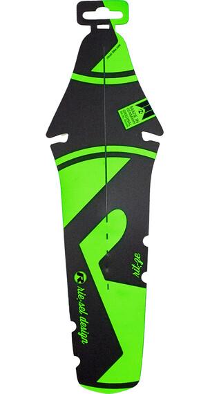 rie:sel design rit:ze Bright green label Mudguard